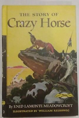 The Story of Crazy Horse SIGNATURE BIOGRAPHY SERIES Enid Meadowcroft HCDJ clean