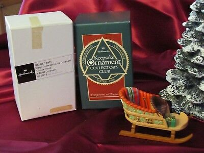 "Hallmark Collector's Club Ornament 1988 ""Sleighful of Dreams"" - NIB"