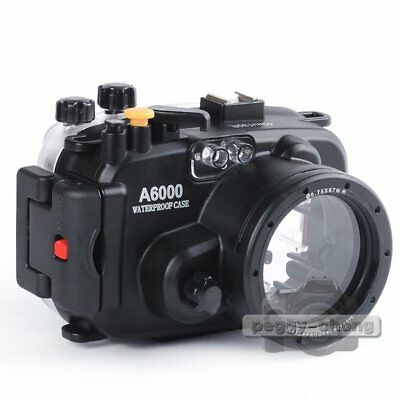 40M 130ft Waterproof Underwater Housing Case Cover For Sony A6000 16-50mm Lens
