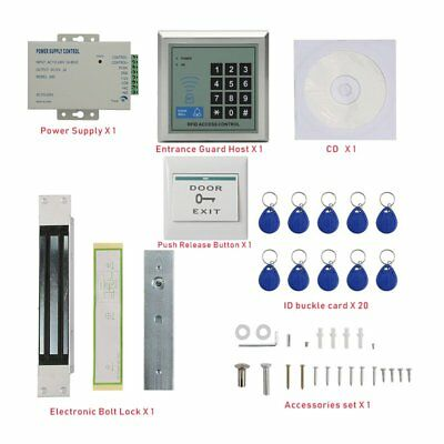 Complete Kit Rfid Door Access System With 280kg Magnetic Lock