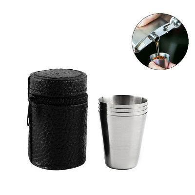 New Stainless Steel Wine Drinking Shot Glasses Barware Cup