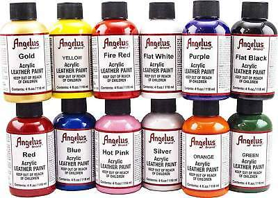 Angelus acrylic leather paint / Dye 4 oz bottle NEW For Shoes Bags Boots (Colors
