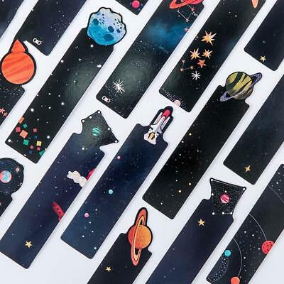 30pcs/set Flying to the Universe Planet Bookmark Cards Tab for Books Stationery-