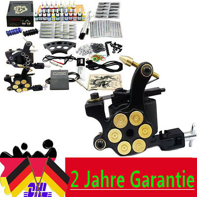 Kit completo de tatuar 2 gun maquina 20 tinta tattoo tatuaje Power 50 Needles DE