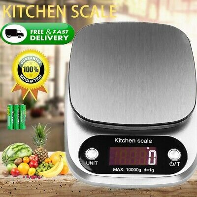 10kg Stainless Steel Digital LCD Electronic Kitchen Cooking Food Weight Scales