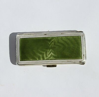 Antique Russian silver enamel snuff box, tobacco box