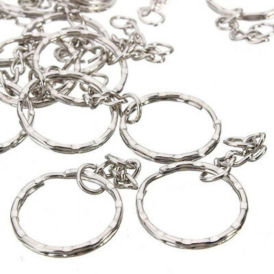 10/50/100pcs Keyring Blanks Silver Key Chains Jewelry Making Rings Tool