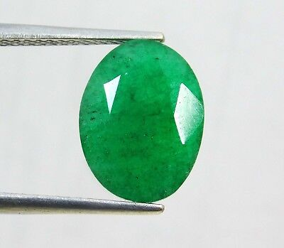 Natural 5.05 Ct Certified Oval Cut Colombian Loose Emerald Gemstone. 10988 Q