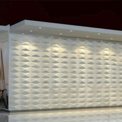 4x 3D Wall Panel Decorative Wall Ceiling Tiles Cladding Wallpaper White 30x30cm