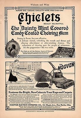 1911 Hoover Vacuum Cleaner Ad-Restores Color To Your Rug