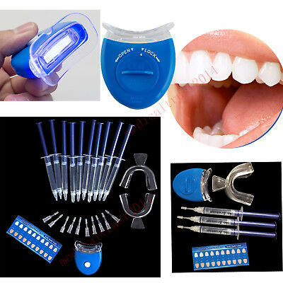 Blue LED Teeth Whitening Accelerator UV Light Dental Lamp Tool or +10pcs gel kit