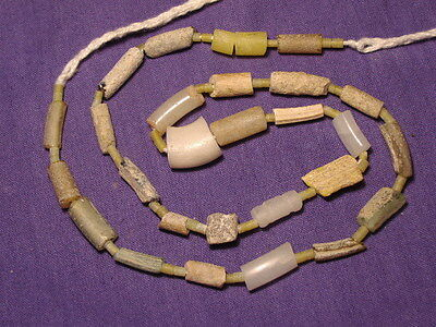 Ancient Glass Fragment Beads Strand Roman 200 BC  #BE5130