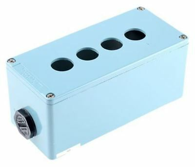 Schneider Electric Harmony XAP Push Button Enclosure, 4 Hole Blue, 22mm diameter