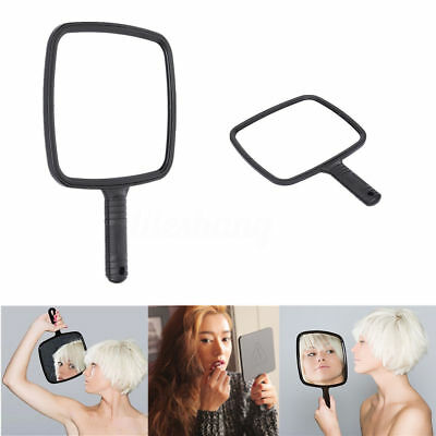 Hand Held Mirror Salon Mirror Large Lady Women Makeup Beauty Cosmetic Black New