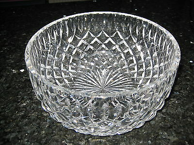 Crystal Bowl Huge Large Royal Brierley Signed Ex.con