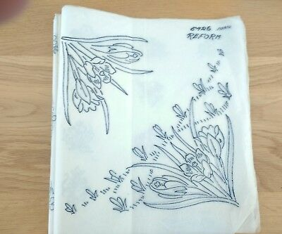 "Vintage Embroidery Transfer: 10"" x 10"" for CROCUS"