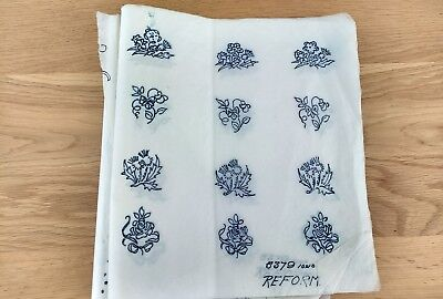 "Vintage Embroidery Transfer: 10"" x 10"" for Rose, Thistle, Shamrock (5379)"