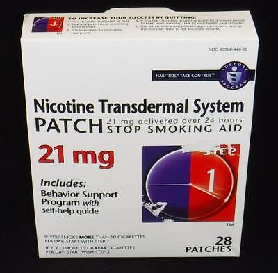 Habitrol Nicotine Transdermal System Patch 21 Mg Step 1 - 28 Count (Pack Of 3)