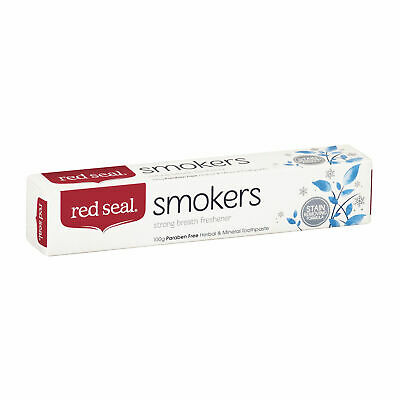 Red Seal Smokers Toothpaste 100g Paraben Free Removes Stains