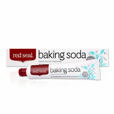 New Red Seal Baking Soda Toothpaste 100g Paraben Free Removes Stains