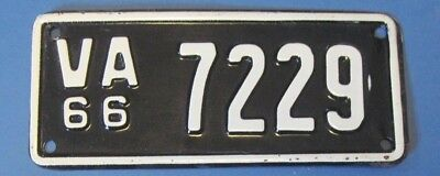 1966 Virginia Motorcycle License Plate new never used