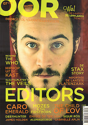 MAGAZINE OOR 2013 nr. 07 - EDITORS / THE WHO / DEERHUNTER / CHILD OF LOW
