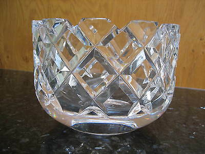 ORREFORS CRYSTAL SOFIERO LARGE BOWL EXCELLENT BEAUTIFUL FREE p&p