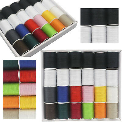 24 Spools 24 Colour Finest Quality Sewing All Purpose 100% Cotton Thread Reel