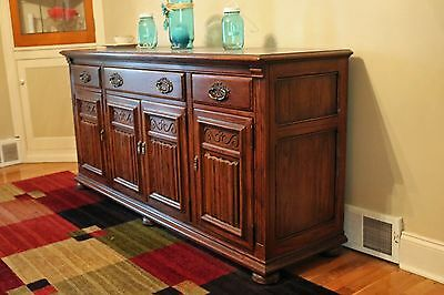 Ethan Allen Royal Charter Hutch Cabinet Oak