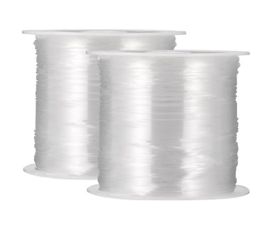 100 Meters Clear Fishing Wire Nylon Beading Transparent Non Stretch 0.5mm