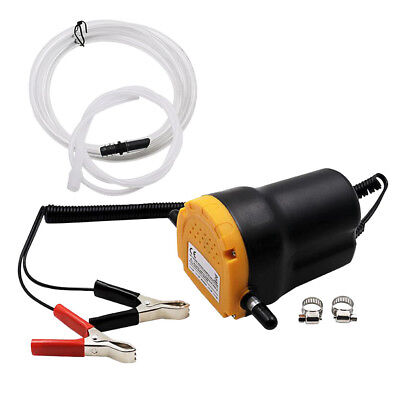 12V Fluid Extractor Oil Diesel Fuel Transfer Pump Siphon Car Motorbike Use