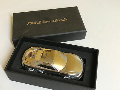 Porsche Design Gifted Billet Aluminum Paperweight 1:43 Scale 718 Boxster S. Nib.
