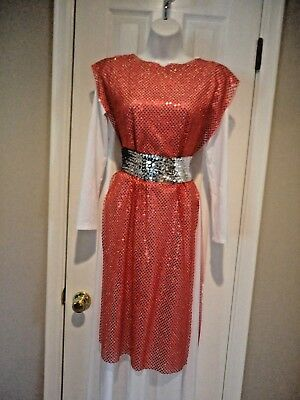 Liturgical Dance Red Gold Sequin Ephod Tunic Top