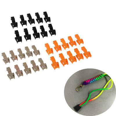 10 Pieces Plastic Zipper Puller End Lock Zip Pull End for 3-4mm Bungee Cord