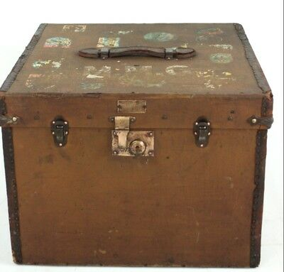 Vintage Hat Box c1920 - FREE Shipping [PL4639]