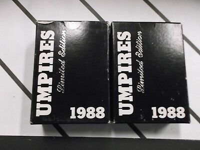(Lot of 2) 1988 Umpire Factory Sets Plus 5 Free VINTAGE Cards