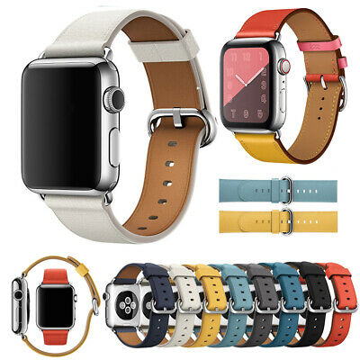 For Apple Watch 1/2/3/4 38/40/42/44mm Genuine Leather iWatch Strap Wrist Band