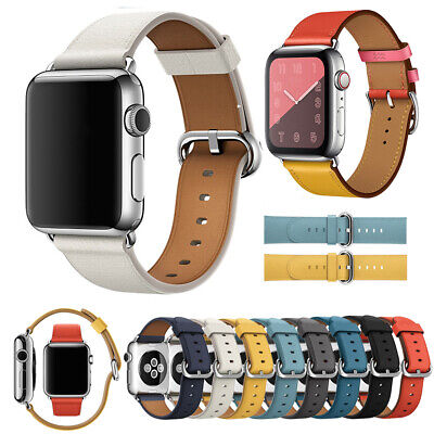 For Apple Watch Series 1/2/3/4/5 38/40/42/44mm Genuine Leather iWatch Strap Band