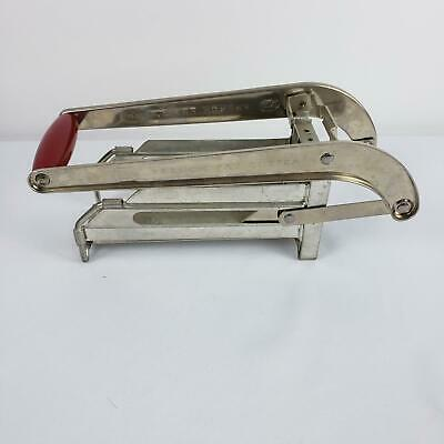 Vintage ECKO Metal French Fry Potato Cutter w/ Red Wood Handle