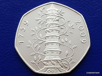2009 Kew Gardens 50p  Uncirculated  Collectable  Rare  Souvenir Gift Coin