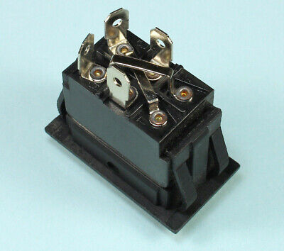 Momentary Black Rocker Switch for Polarity Reversing DC Motor (ON) OFF (ON)