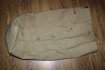 Vintage US Military Issue WW2  USMC Marine Corps Canvas Duffle Bag #B9
