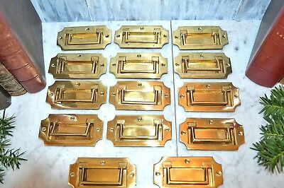 One Vintage English Brass Campaign Military Chest Drawer Pull Handle 2 Available
