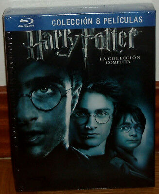 Harry Potter The Collection Complete 8 Discs Blu-Ray Sealed New Fantasy R2