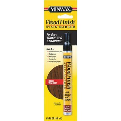 Minwax Wood Finish Stain Fast Drying Touch Up Marker Dark Walnut 63487