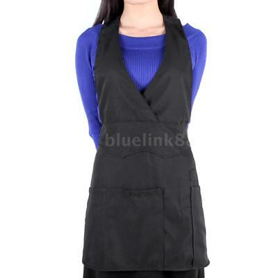 Hot Single Face Salon Apron Hairdressing Cloth Hair Styling Cape Gown Black A9J1