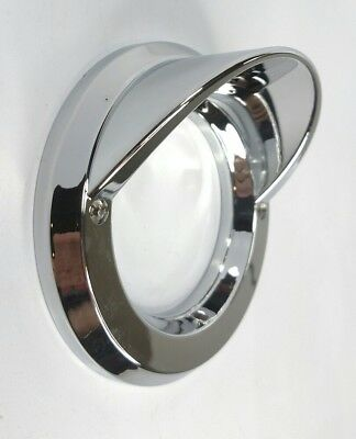 "Chrome Light Bezel 2-1/2"" Round Visor Cover for Peterbilt Kenworth Freightliner"