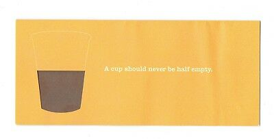 vintage 2006 starbucks coffee recovery certificate free drink coupon