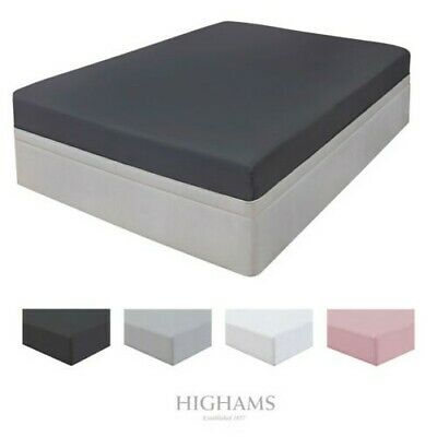Highams 100% BRUSHED Cotton Fitted Sheet Thermal Flannelette Single Double King