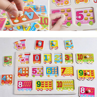 Wooden Animal Letter Puzzle Jigsaw Early Learning Educational Baby Kids Toy Gift